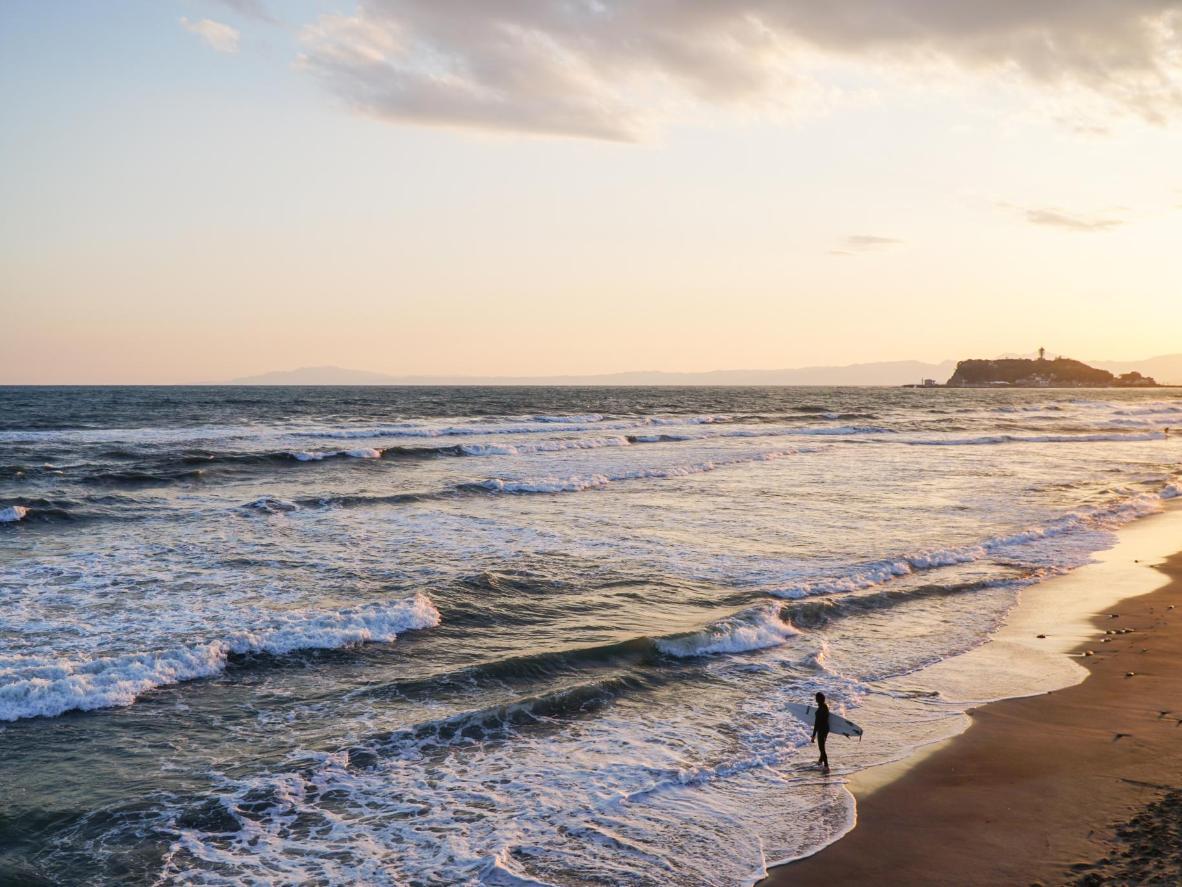 Fujisawa adalah pantai yang mudah diakses kerana ia terletak kurang daripada satu jam melalui pengangkutan awam dari Tokyo