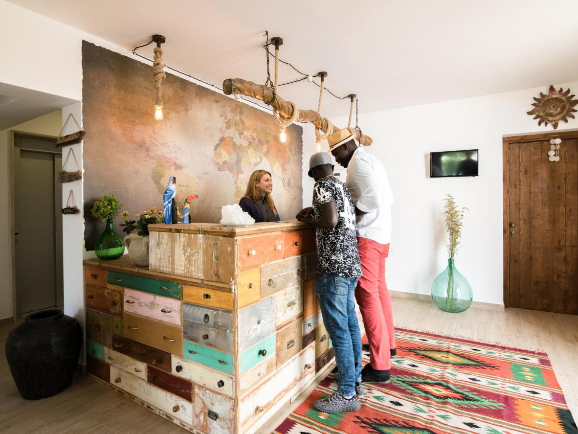 Timbuktu's desert island décor and community feel make for a relaxing getaway