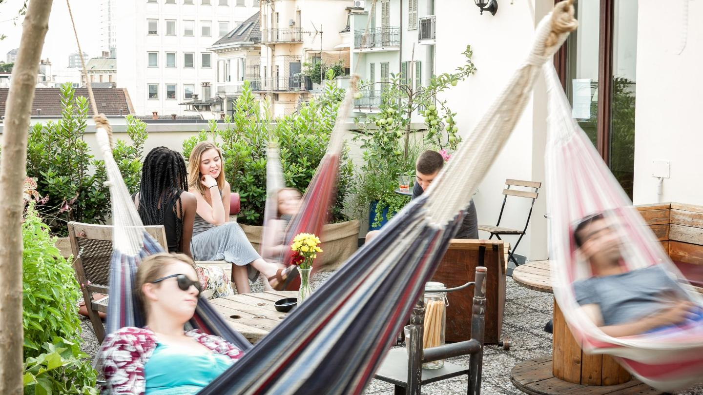 BelloGrande's roof garden is a great place to relax, day or night