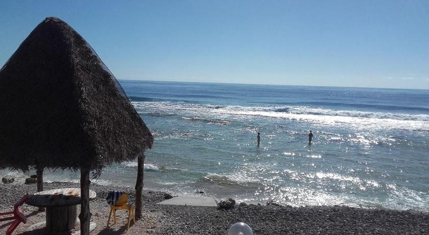 Vue de la plage de l'hôtel