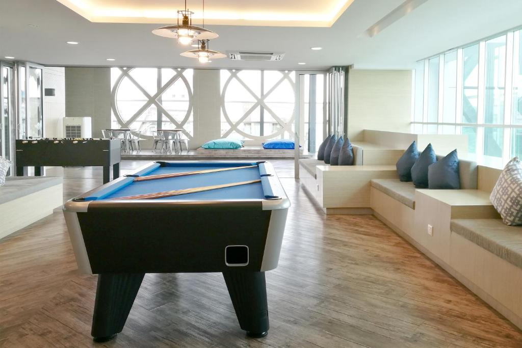 A pool table at Verve Suites KL South