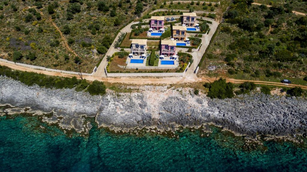 A bird's-eye view of Amarandos Villas