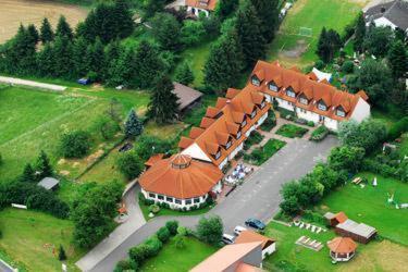 Blick auf Motel Hormersdorf aus der Vogelperspektive