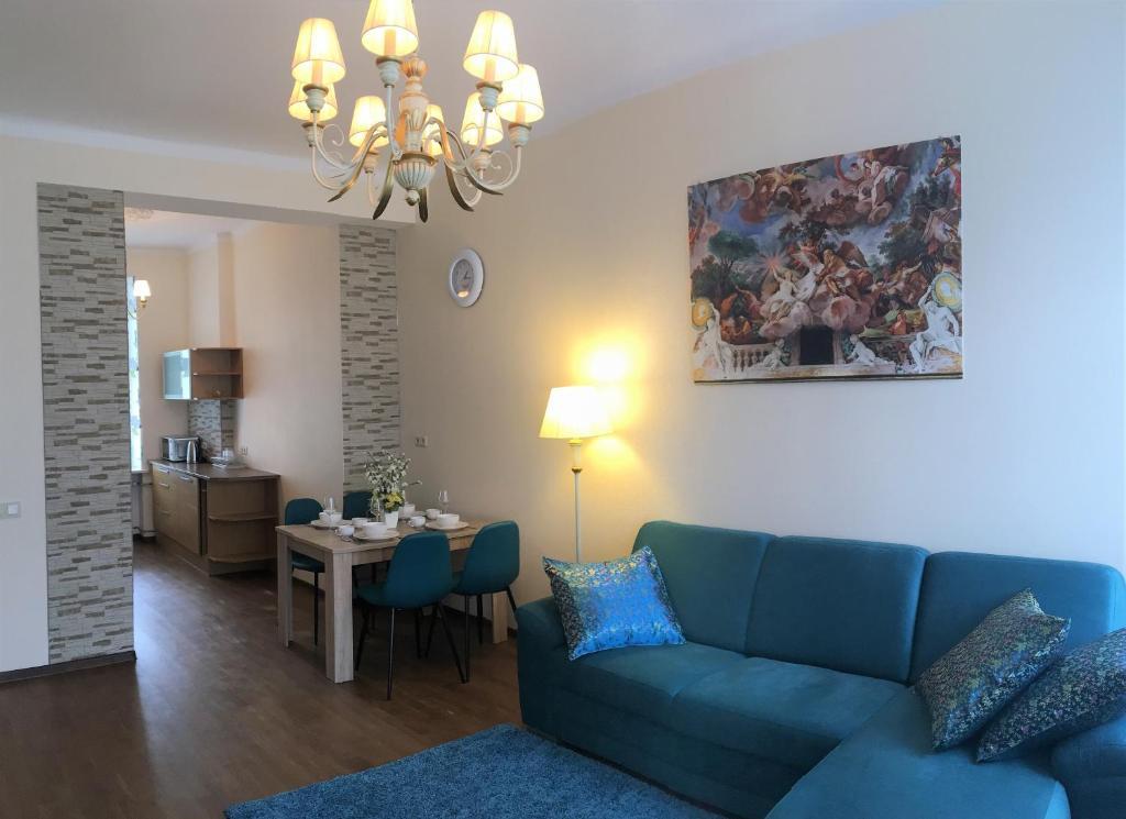 Istumisnurk majutusasutuses Romeo Family Apartments