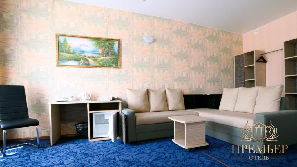 Гостиная зона в Премьер Отель Воронеж Центр