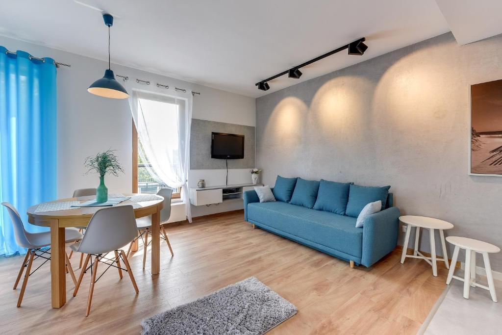 Część wypoczynkowa w obiekcie Gdansk Comfort Apartments Bursztynowa