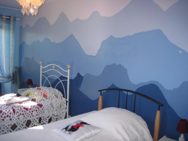 Un ou plusieurs lits dans un hébergement de l'établissement Chambres d'Hôtes de Plagnolles