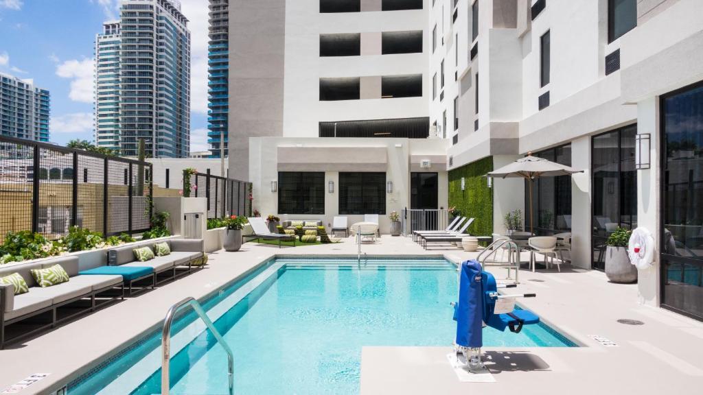 The swimming pool at or near Hampton Inn & Suites Miami Midtown, FL