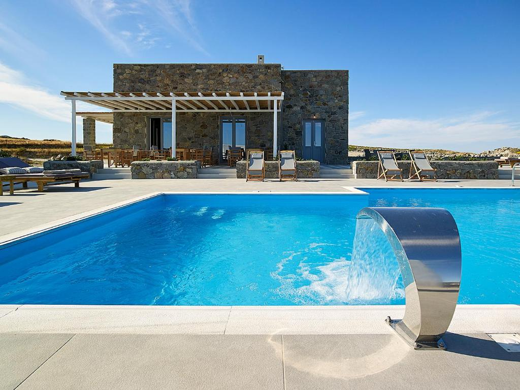 The swimming pool at or near Lithos Luxury Rooms (Adults Only)