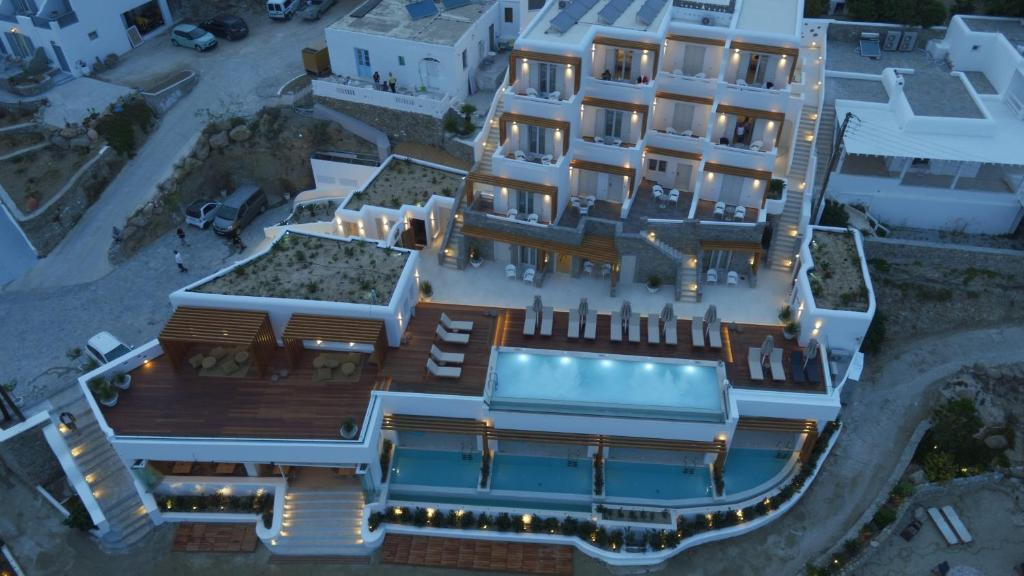 A bird's-eye view of Thalassa Boutique Hotel - Suites