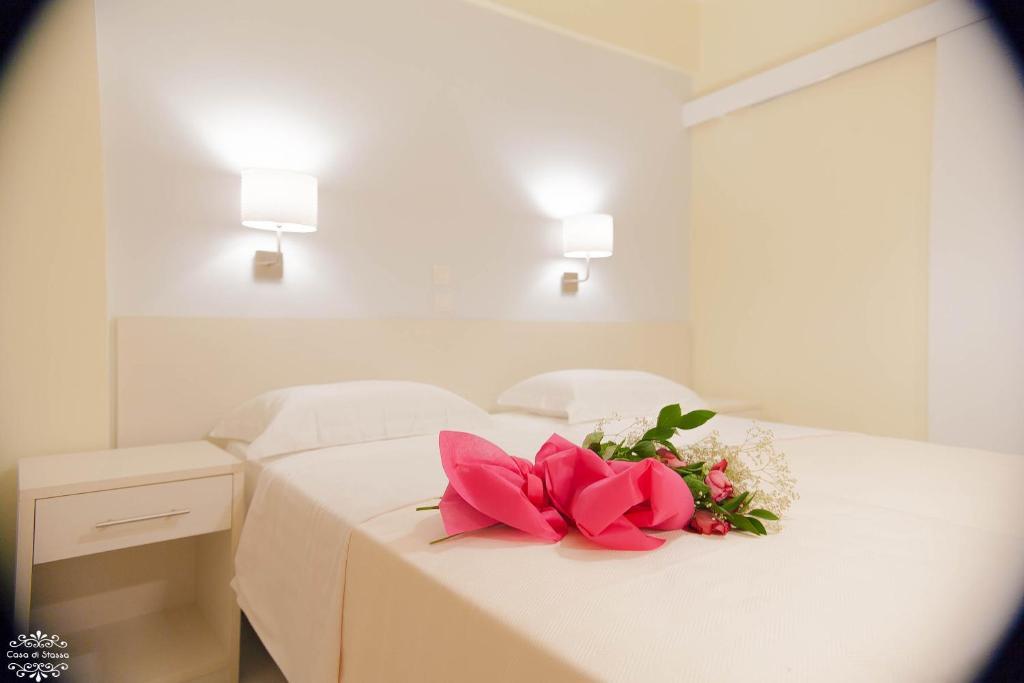 Katil atau katil-katil dalam bilik di Casa di Stassa