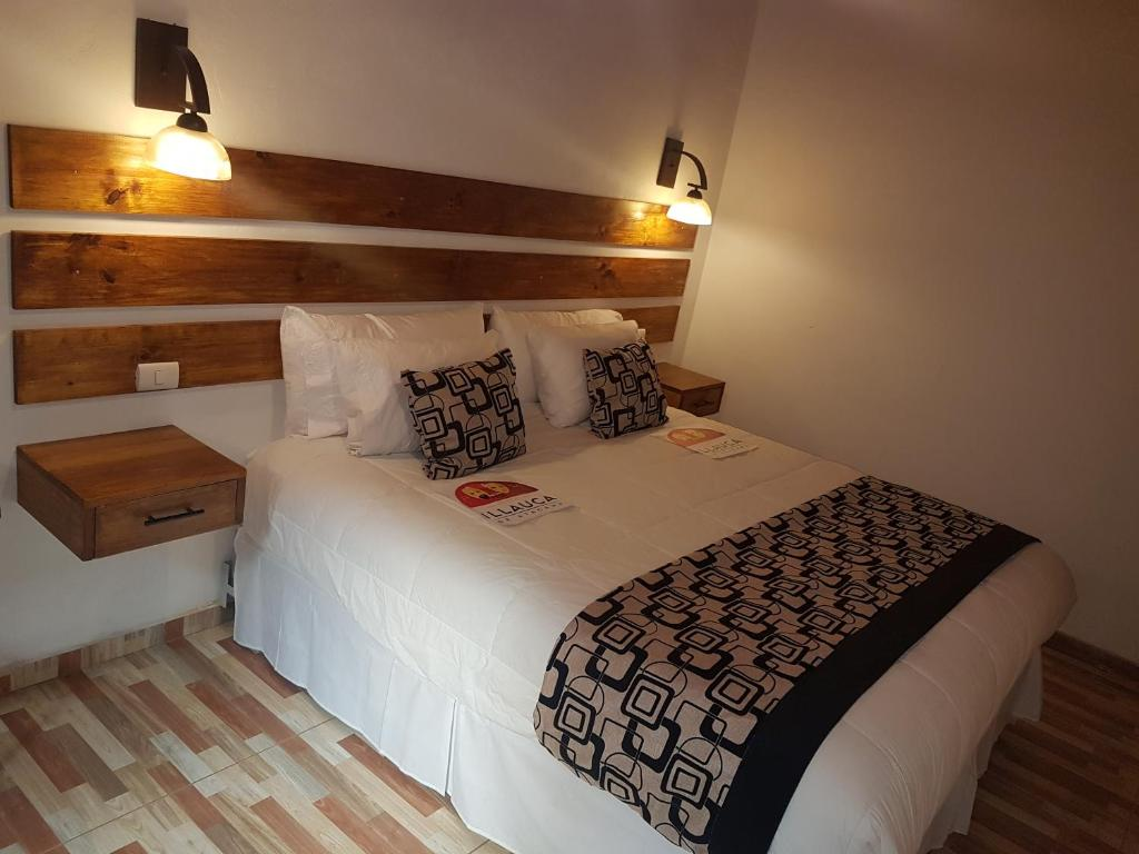 Cama o camas de una habitación en Hostal Illauca de Atacama