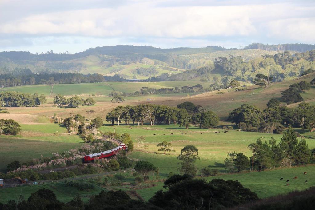 A bird's-eye view of Pukeatua Farmstay