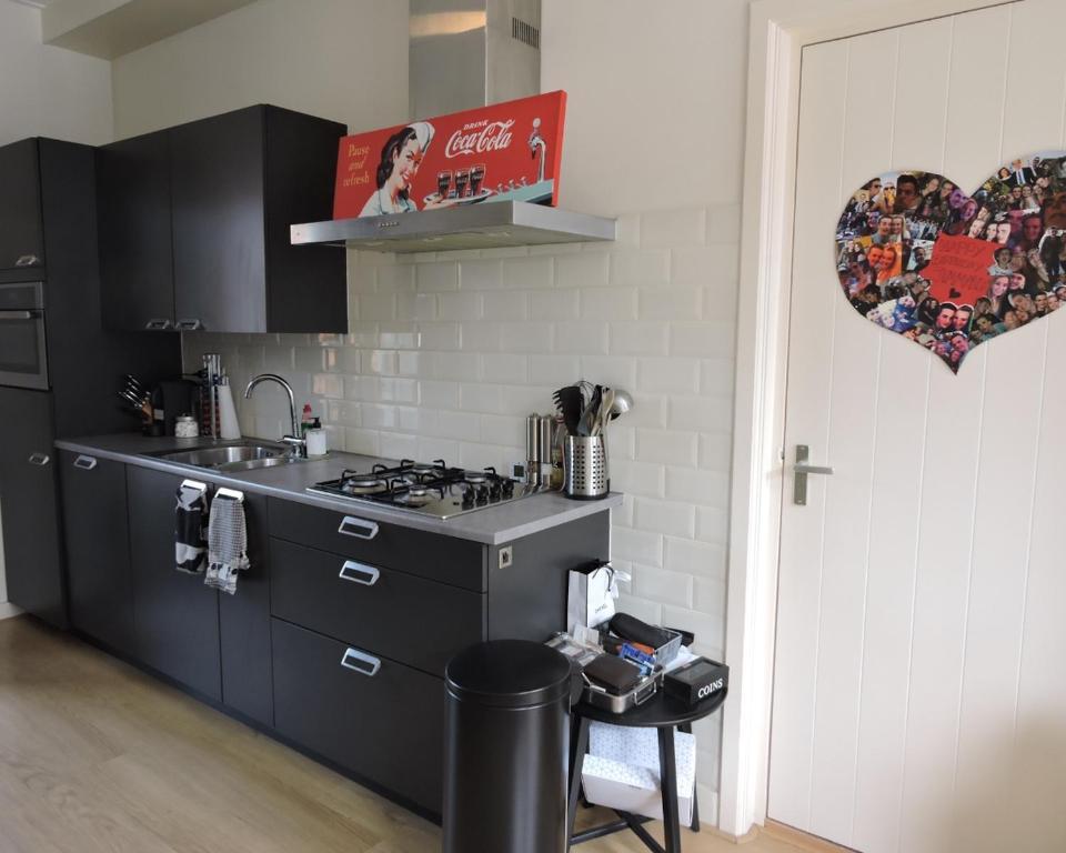 A kitchen or kitchenette at Janvossensteeg EasyBnB