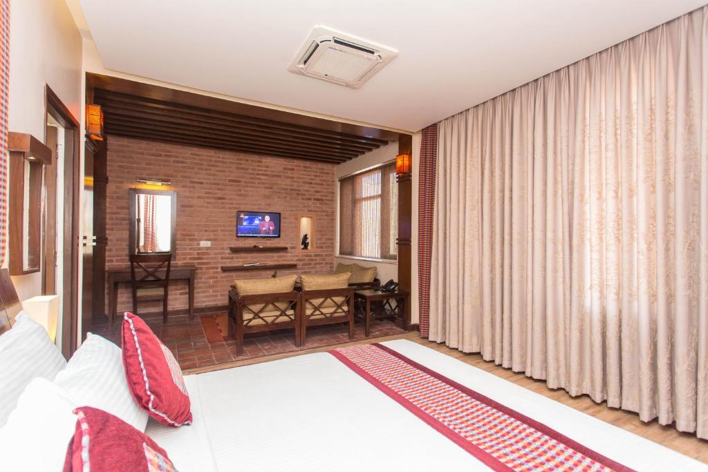 A television and/or entertainment center at Hotel Marshyangdi