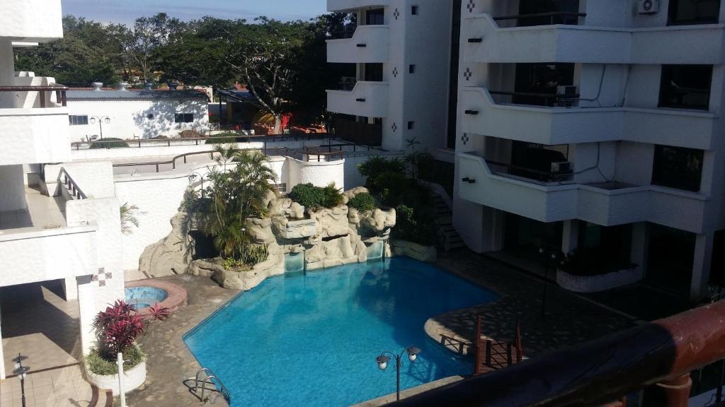 A view of the pool at Habitación en Condominio Casablanca or nearby