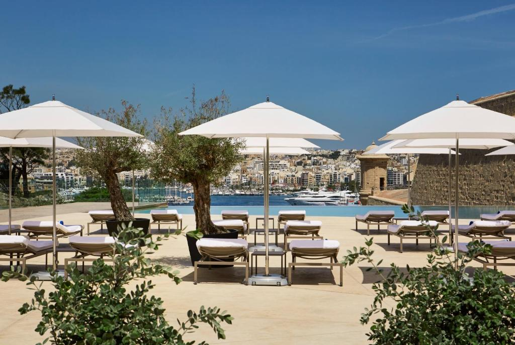 The swimming pool at or close to The Phoenicia Malta