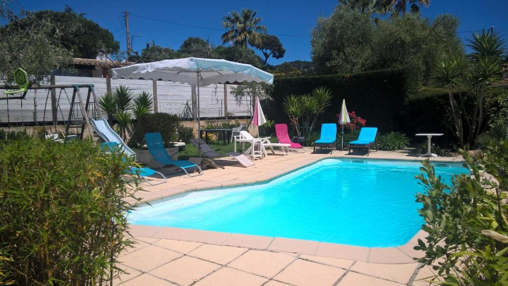The swimming pool at or near Parfums d'Azur