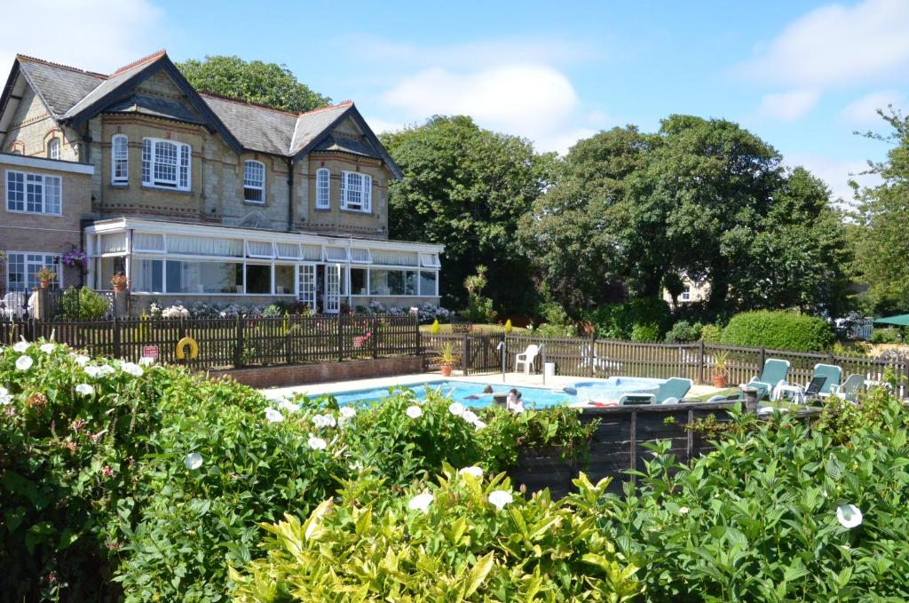 The swimming pool at or near Luccombe Manor Country House Hotel