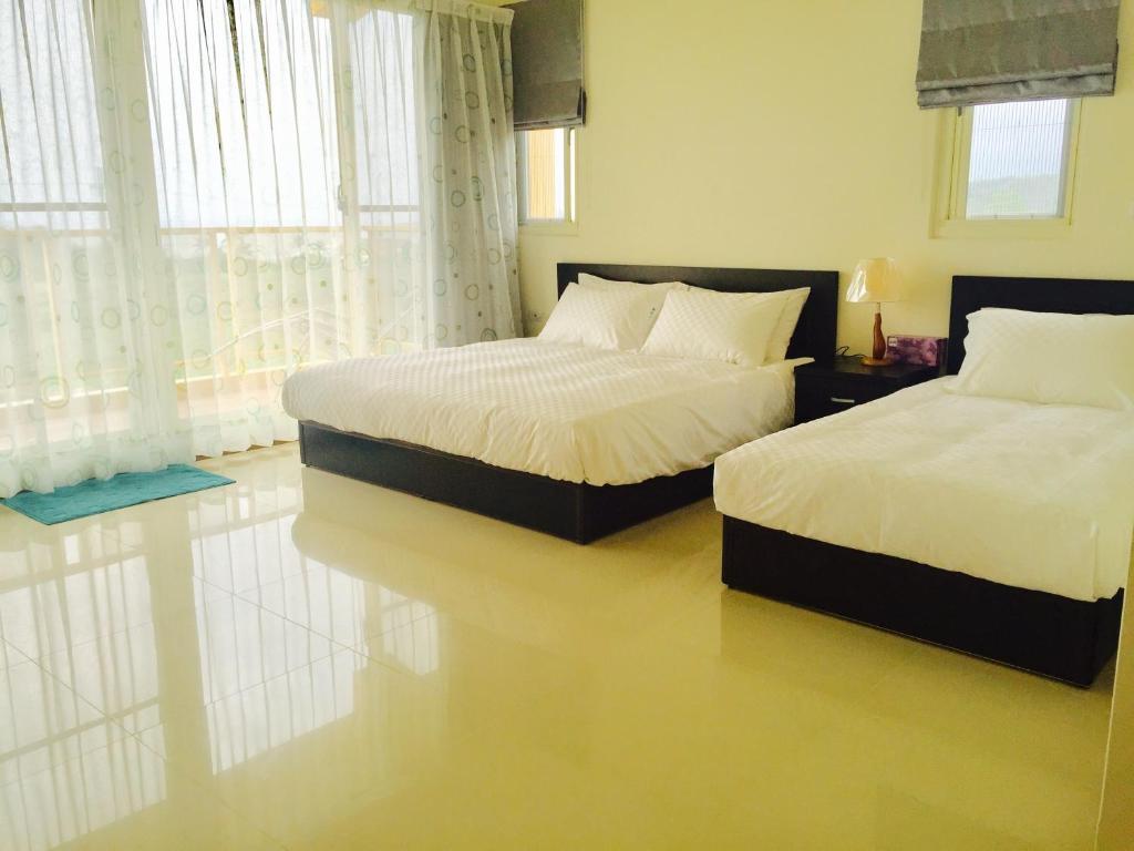 台東都蘭大姆灣民宿房間的床