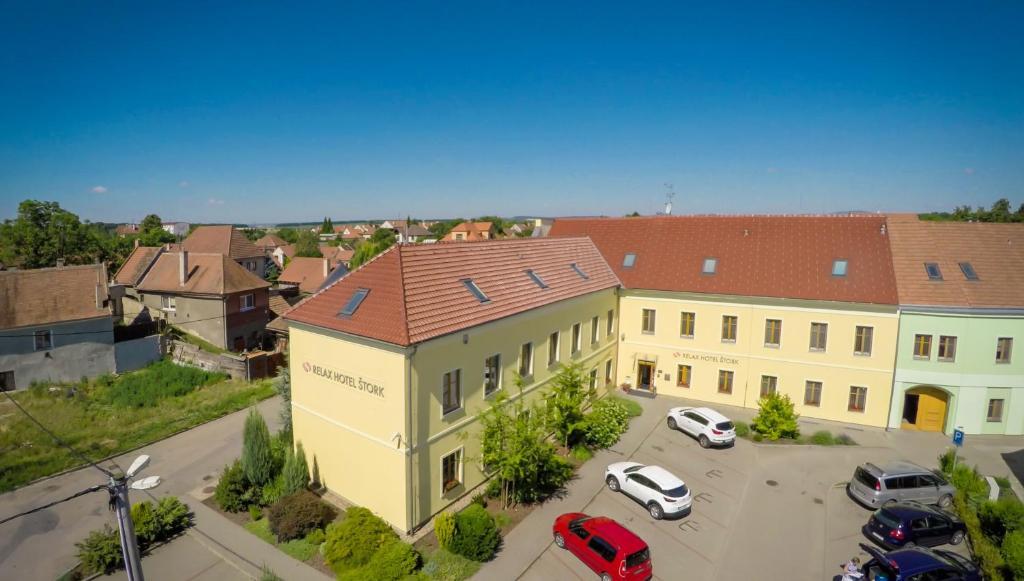Letecký snímek ubytování Relax Hotel Stork