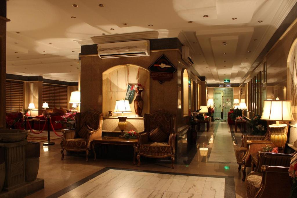 منطقة الاستقبال أو اللوبي في Abha Crown Hotel