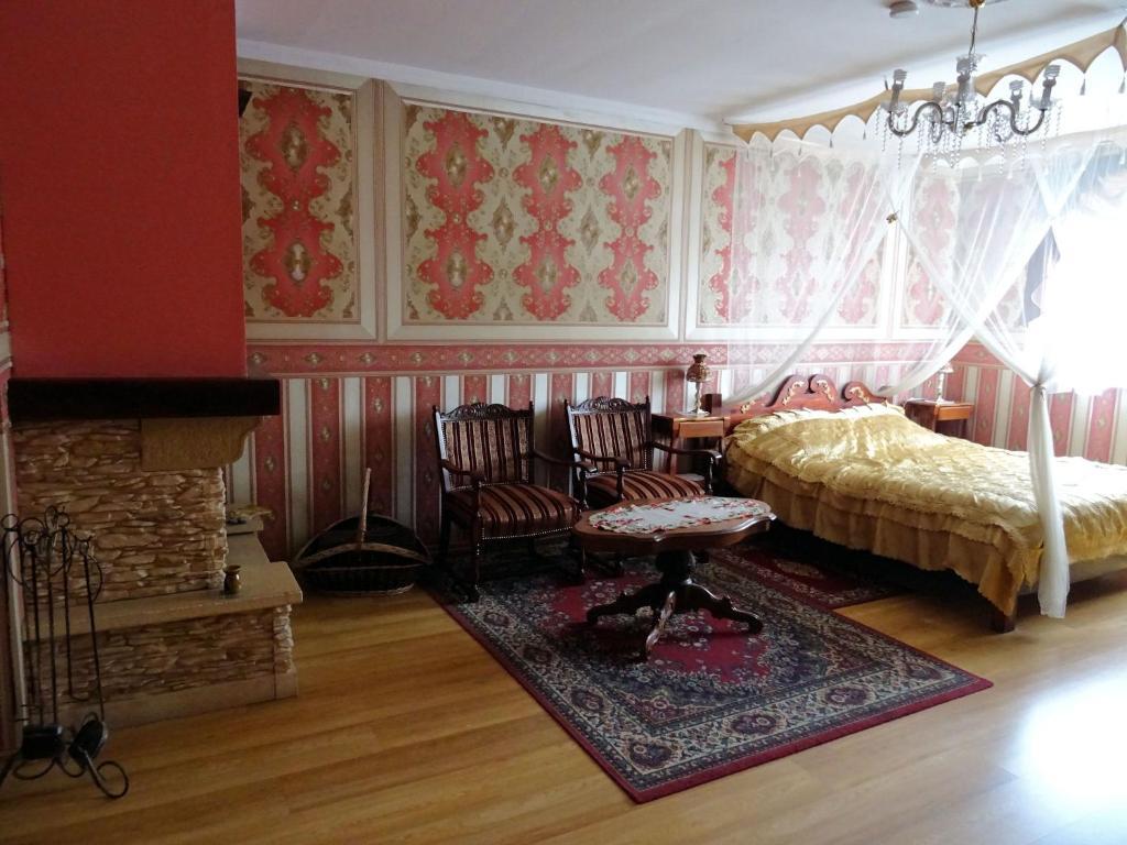 Cama o camas de una habitación en Agroturystyka Zacisze