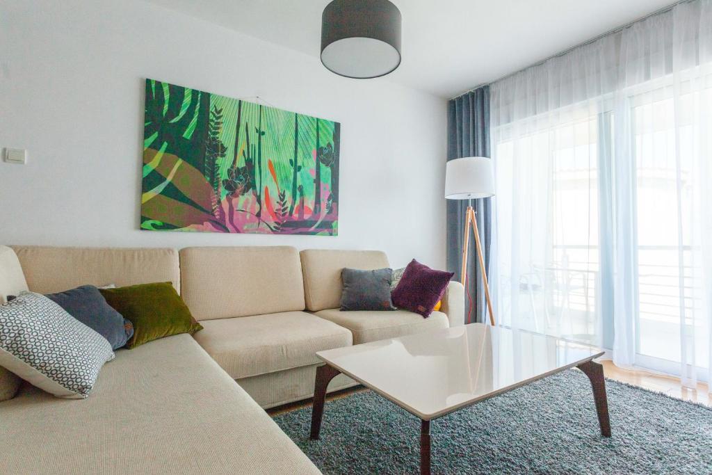 A seating area at Family Apartments Vidikovac