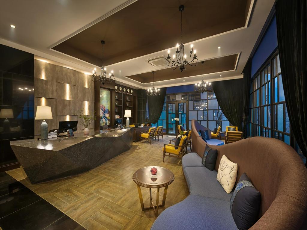 Salon ou bar de l'établissement Aira Boutique Sapa Hotel & Spa