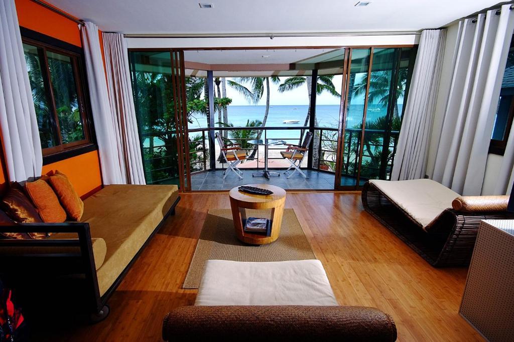 A seating area at Boracay Beach Houses