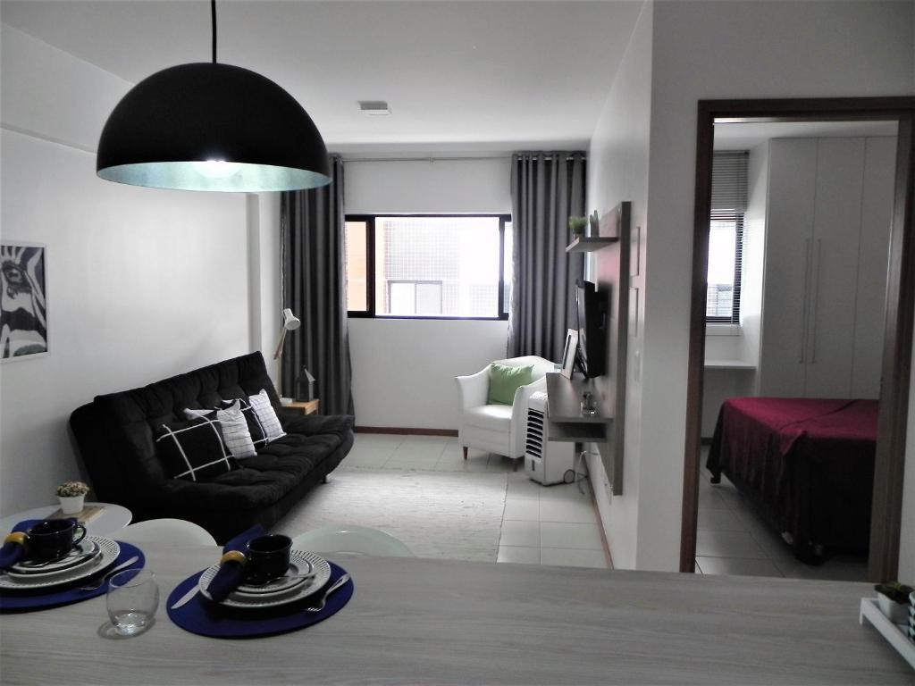 Een zitgedeelte bij Apartamento Port Ville III