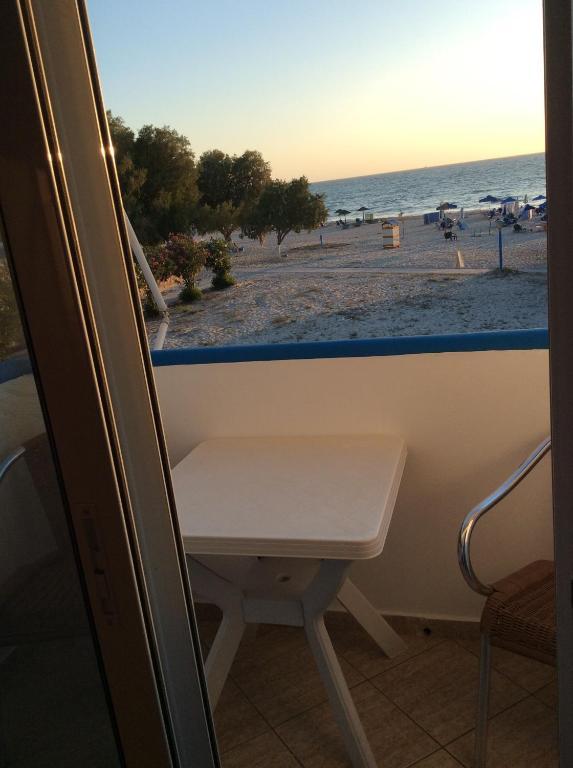 A balcony or terrace at Katerina & Efi Apartments