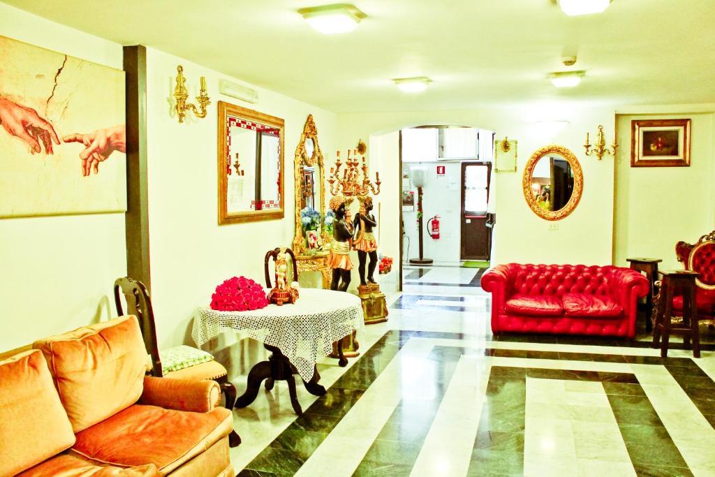 The lobby or reception area at Hotel Palace Nardo