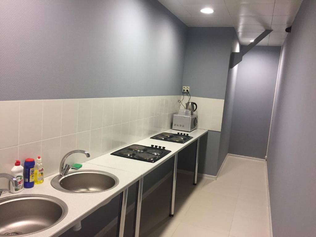 A kitchen or kitchenette at Hostel TMZ