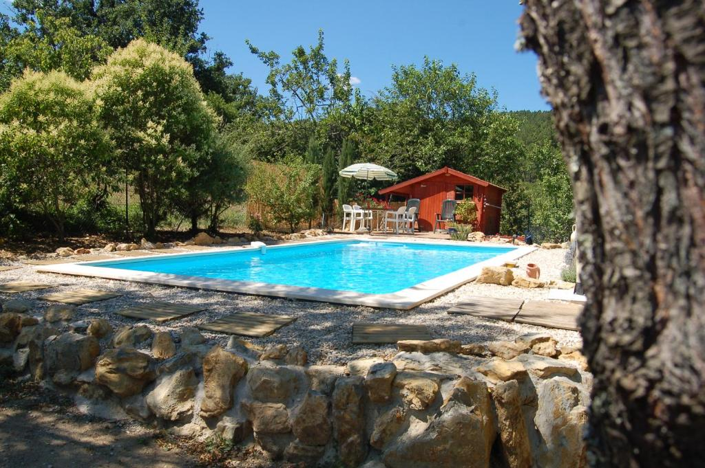 The swimming pool at or near La Passiflore Chambre d'hôte
