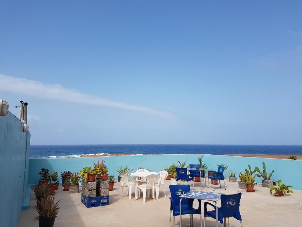 Een algemene foto of uitzicht op zee vanuit de bed & breakfast