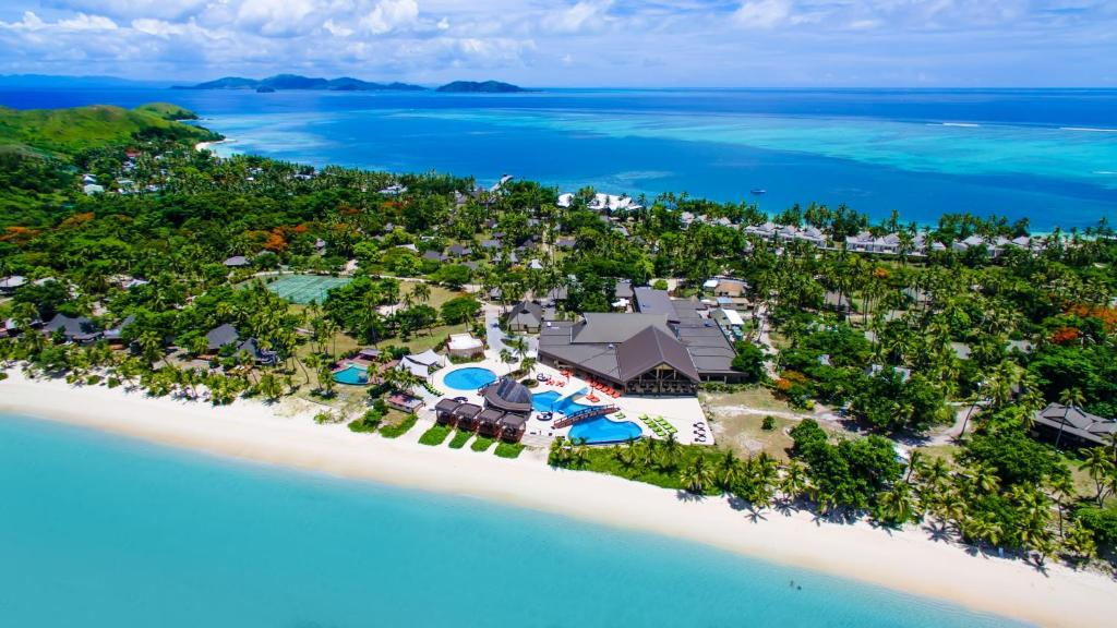 Skats uz naktsmītni Mana Island Resort & Spa - Fiji no putna lidojuma