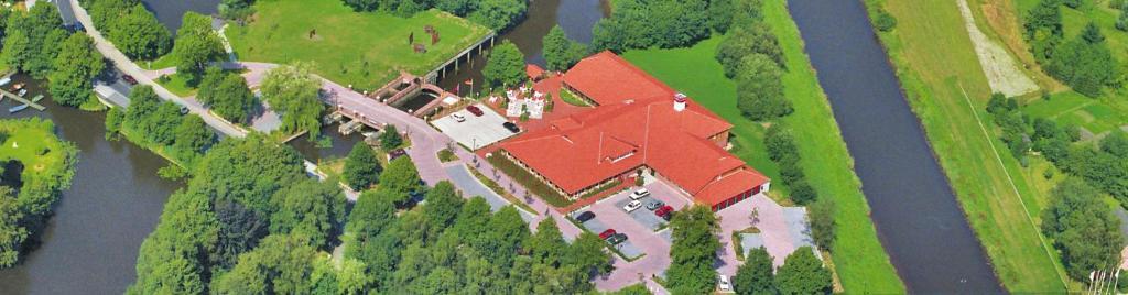 Blick auf Oste-Hotel Superior aus der Vogelperspektive