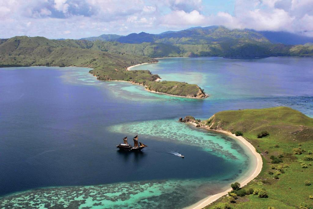 A bird's-eye view of Alila Purnama - Komodo