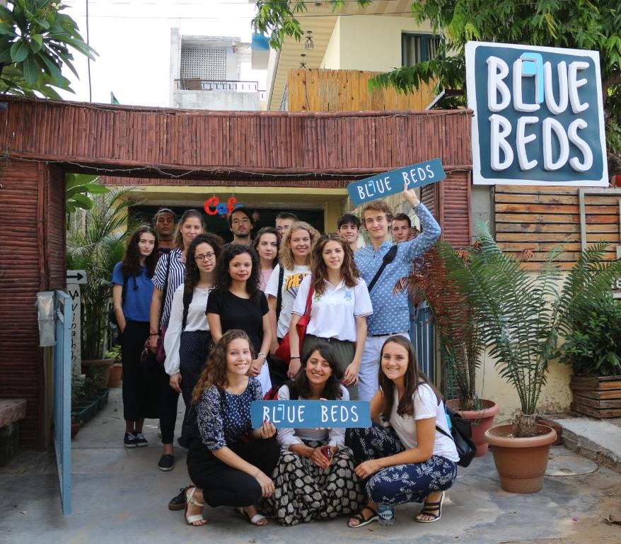 Guests staying at Blue Beds Hostel