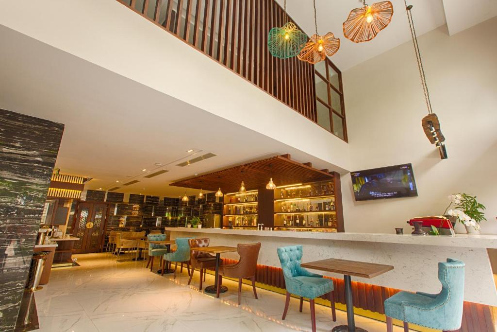 Khu vực lounge/bar tại Sen Boutique Hotel