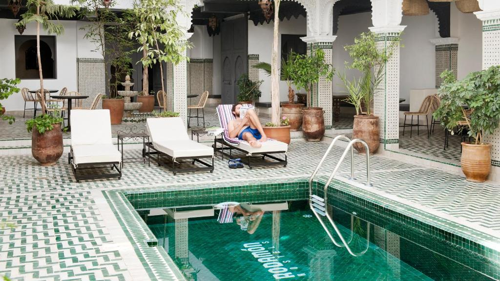 The swimming pool at or near Rodamon Riad Marrakech