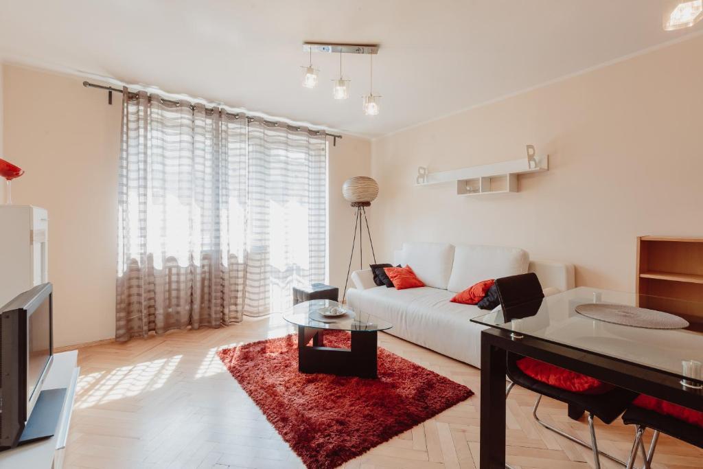 Гостиная зона в Apartment Vanilla Cracow