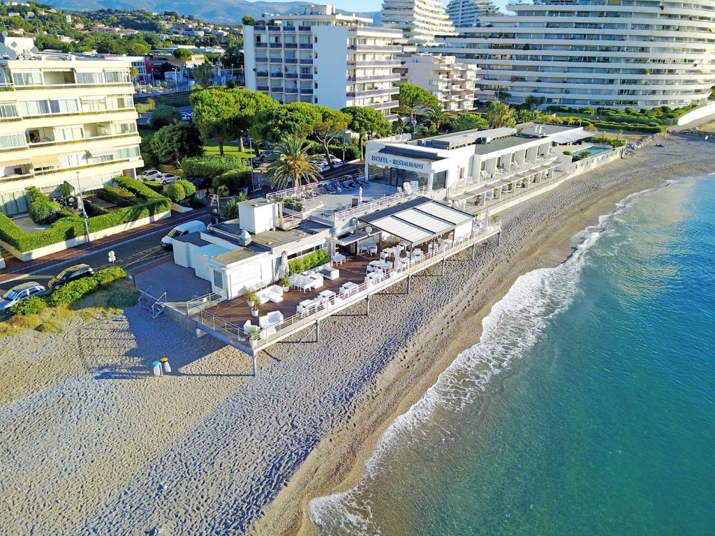 A bird's-eye view of Villa Azur
