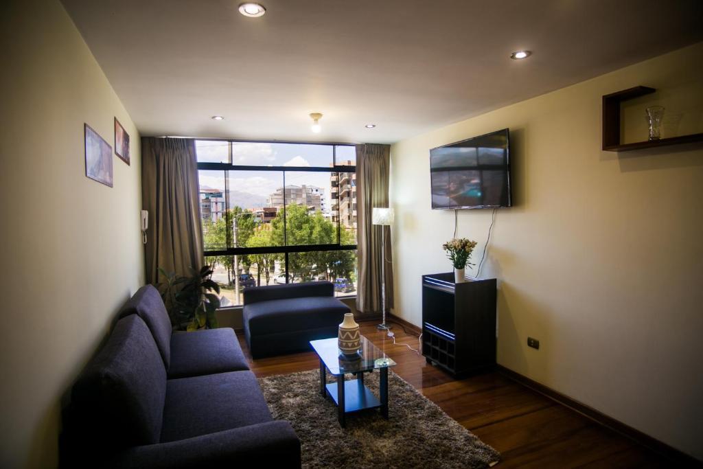 Zona de estar de Torre Blanca Apartament Cusco