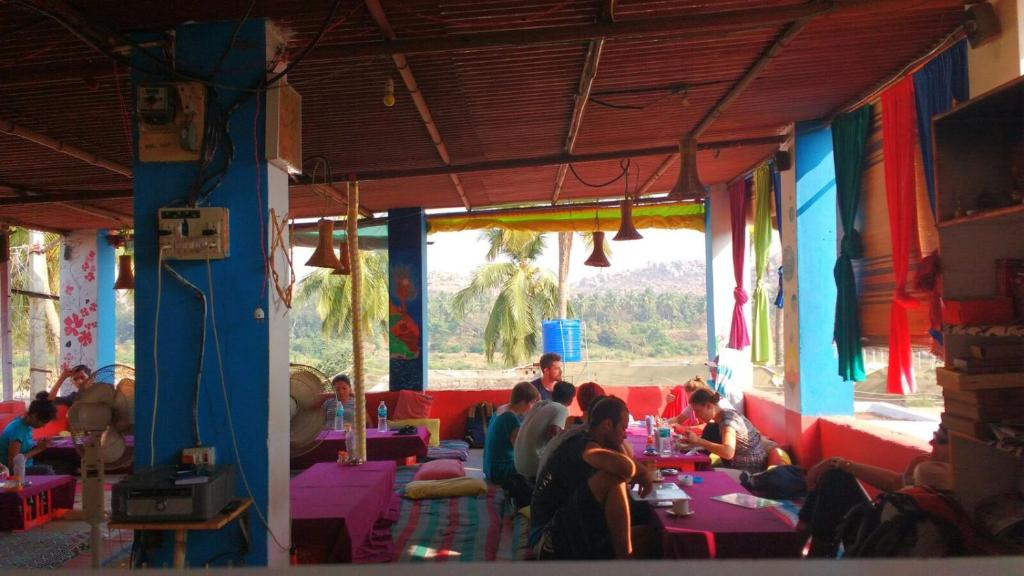 A restaurant or other place to eat at Netra Guest House