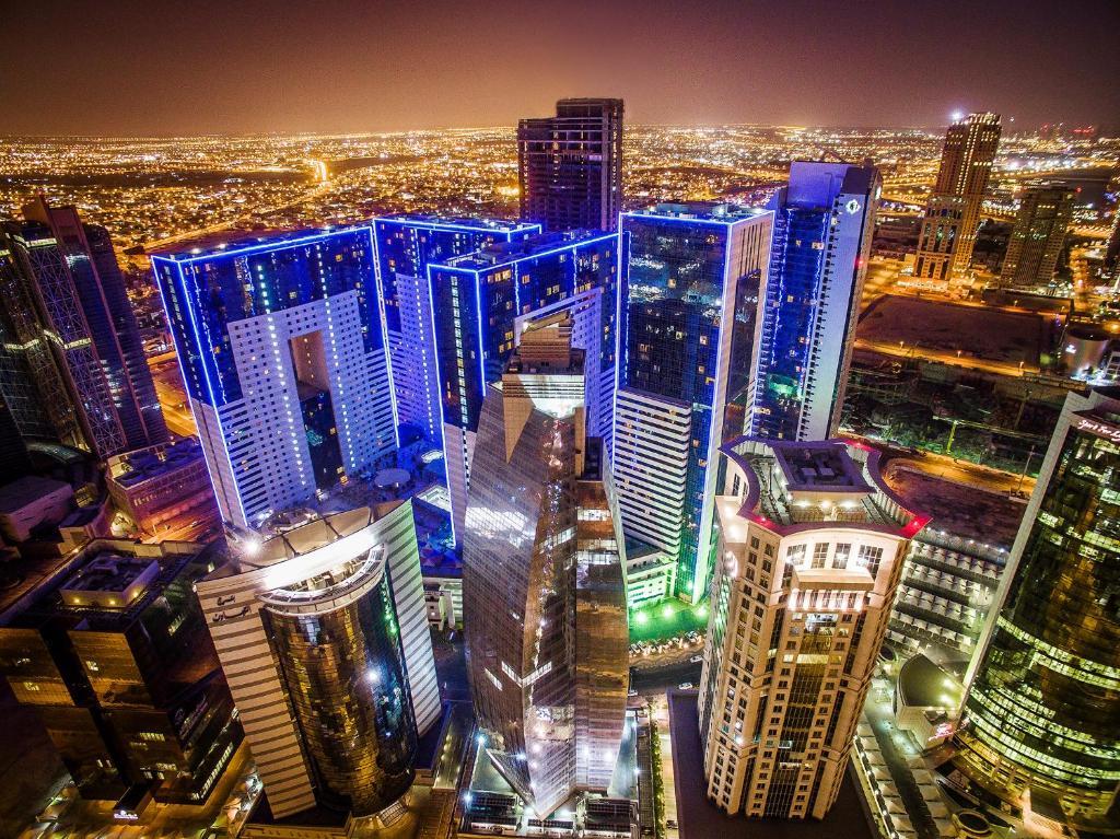 Ezdan Hotel Doha tesisinin kuş bakışı görünümü