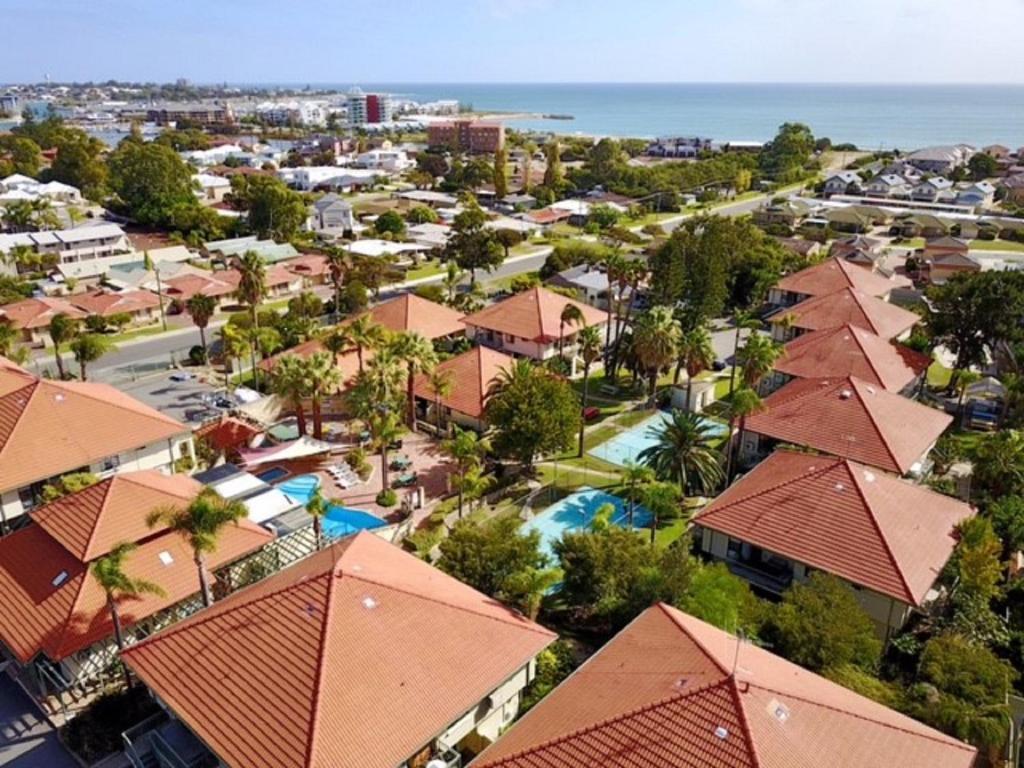 A bird's-eye view of Mandurah Family Resort