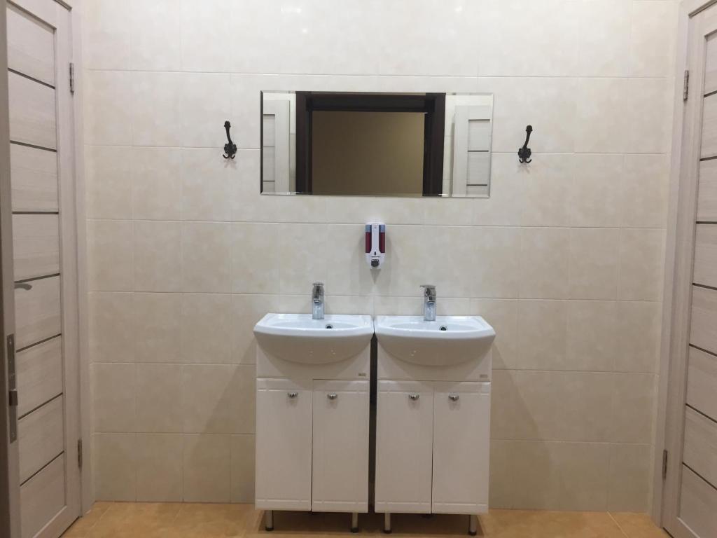 A bathroom at Hostel TMZ