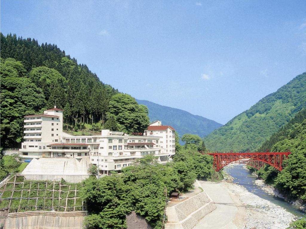 A bird's-eye view of Hotel Kurobe